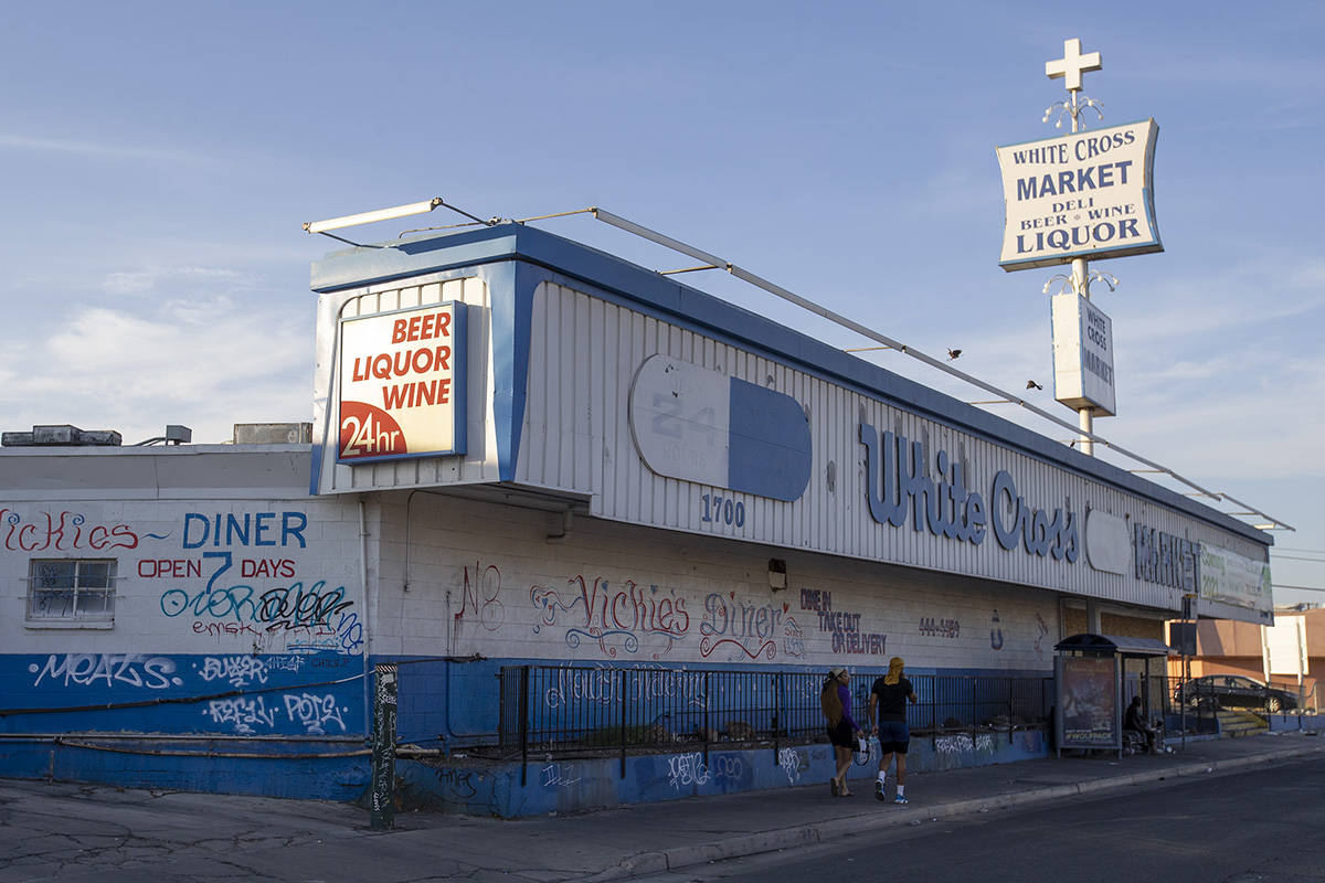 The building where now-closed businesses Vickie's Diner and White Cross Market used to operate ...