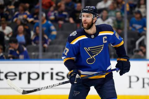 St. Louis Blues' Alex Pietrangelo in action during the first period of an NHL hockey game again ...