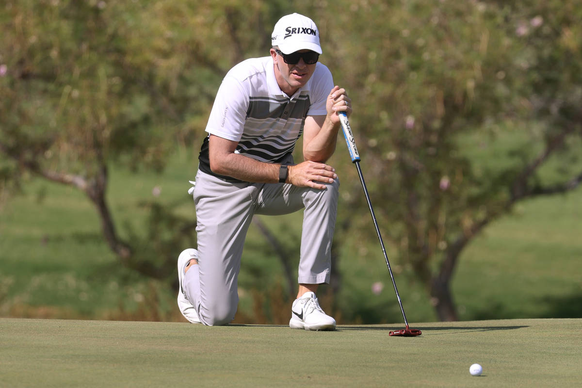 Martin Laird gets ready to putt the ball at the third hole during round three of the 2020 Shrin ...