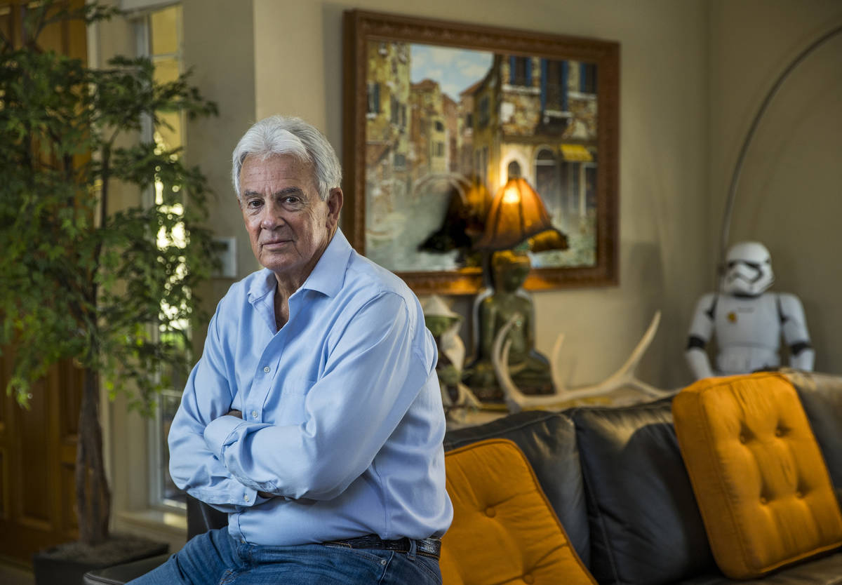 Author Jack Sheehan at home on Friday, Oct. 30, 2020, in Las Vegas. The Las Vegas author is dev ...