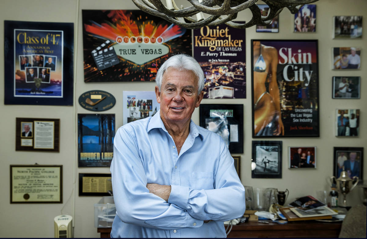 Author Jack Sheehan in his home office where he does his writing on Friday, Oct. 30, 2020, in L ...