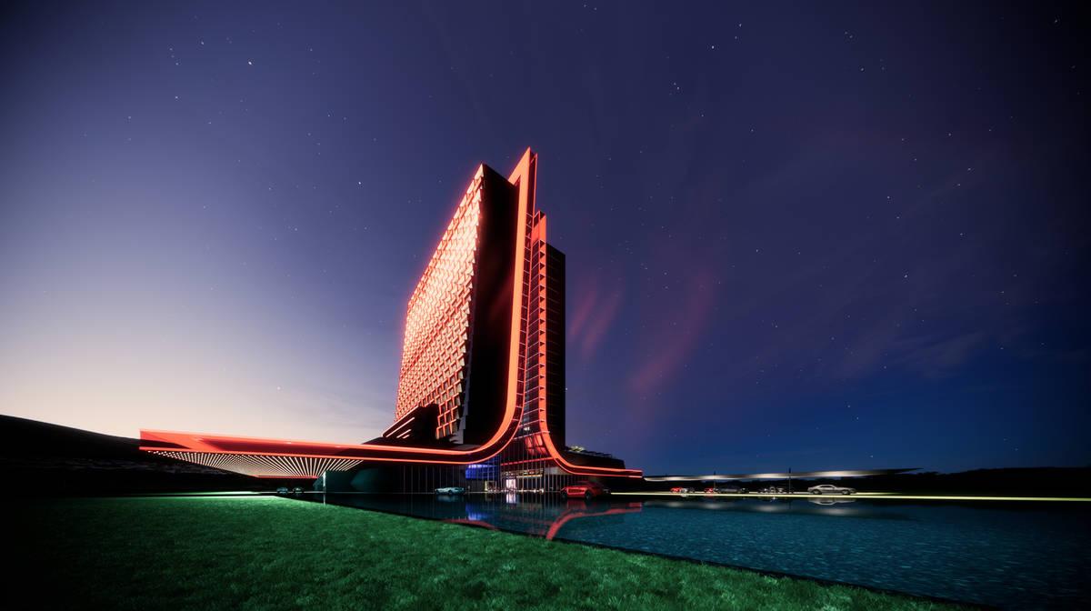 A rendering of Atari Hotels designed by Gensler (Atari Hotels)