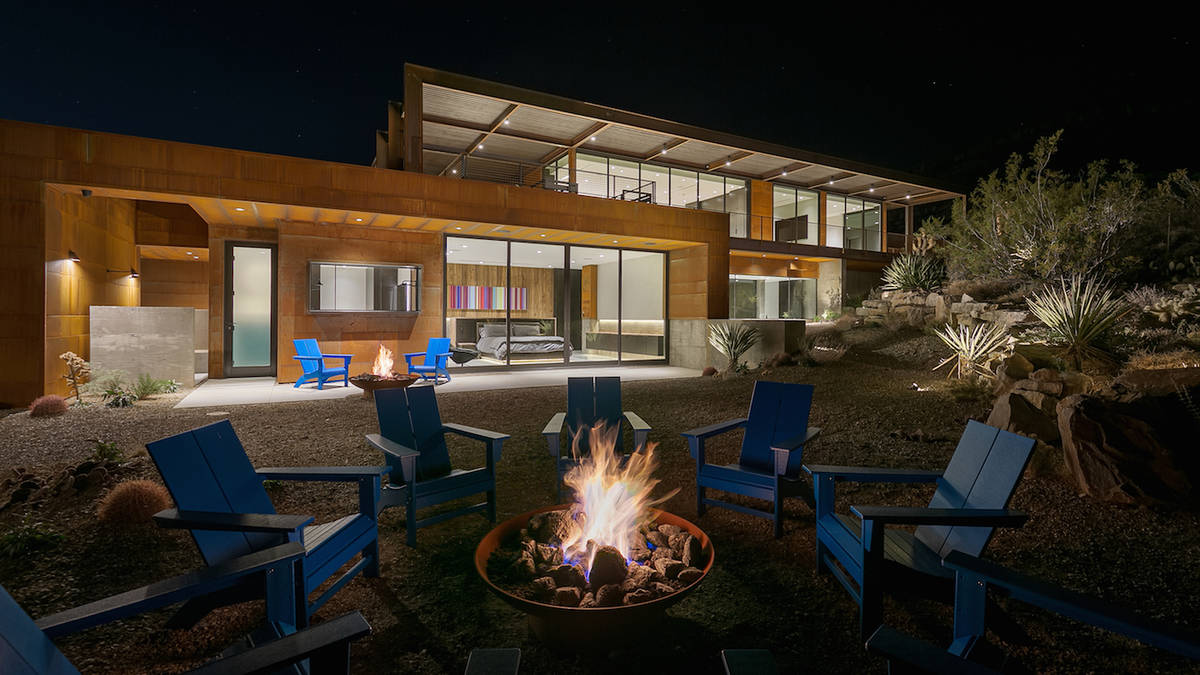 The Blue Diamond home has a fire pit in the backyard at the foot of the Spring Mountains. (The ...