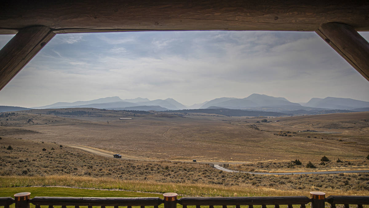 The view from the porch of a custom home at Rock Creek Cattle Company on Friday, Oct. 9, 2020, ...