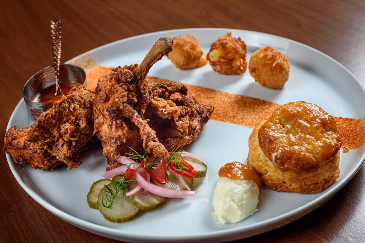 Chef Lamar's fried chicken. (Patrick Gray, Kabik Photo Group)