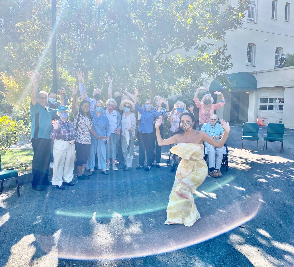 Lorena Peril performs at the Arden Wood Christian Science Nursing Care facility in San Francisc ...