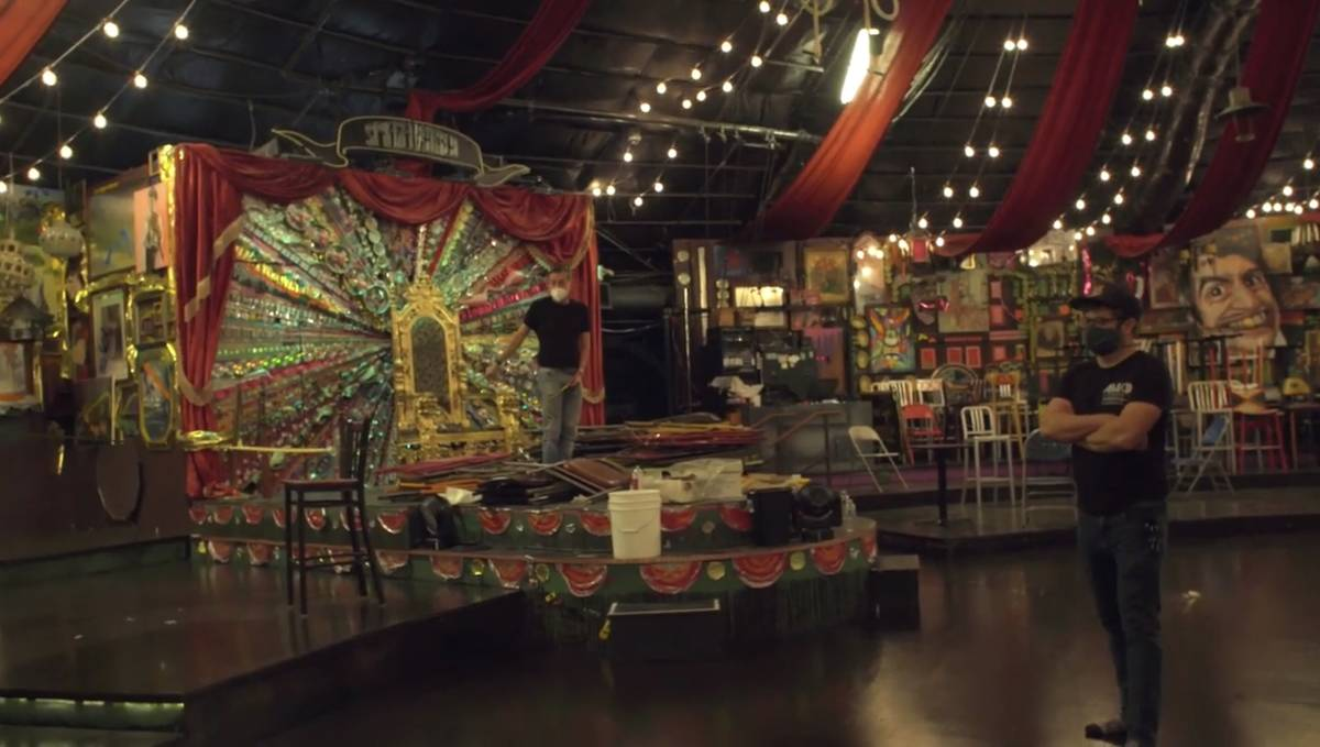 """The interior of the """"Absinthe"""" tent is shown in the first episode of the """"VEGASHITSHOW"""" YouTube ..."""