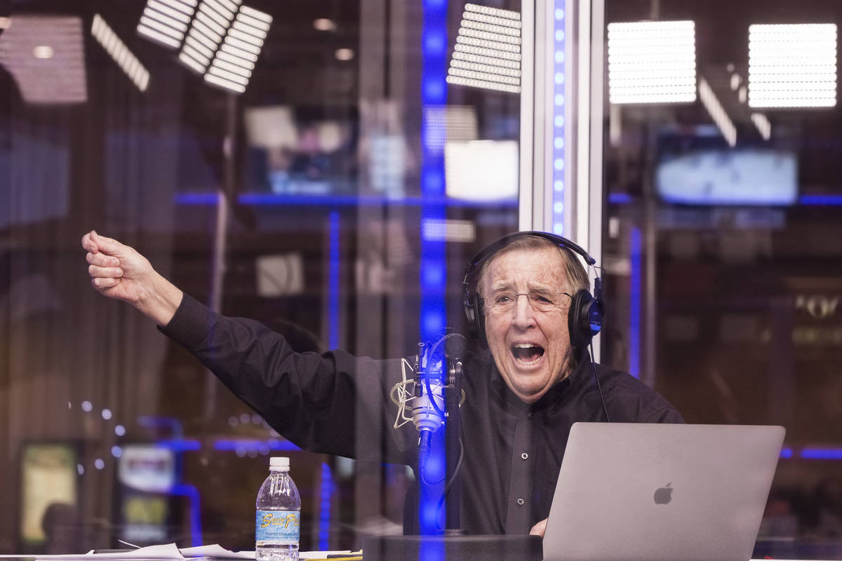 Brent Musburger announces opening round game lines during a live broadcast covering the NCCA To ...