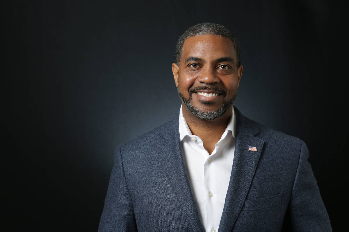 Steven Horsford, Democratic candidate for the 4th Congressional District, is photographed at th ...