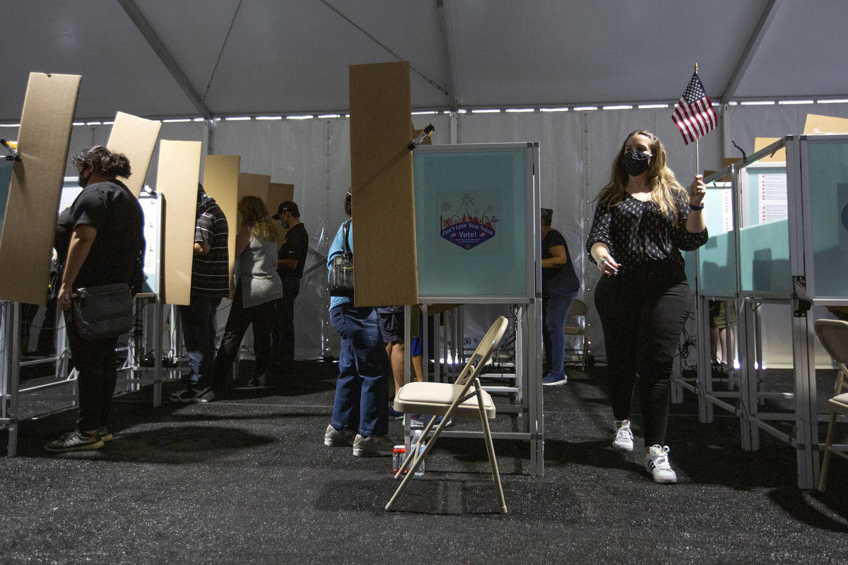 The Boulevard Mall early voting location is full with a line outside on Saturday, Oct. 17, 2020 ...