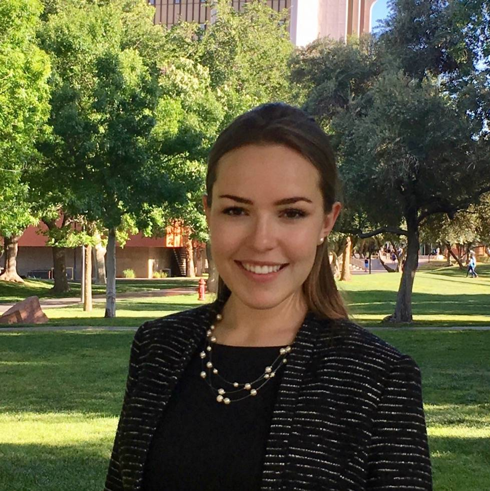 UNLV doctoral student Casey Barber is one of three student leaders for the contact tracing team ...