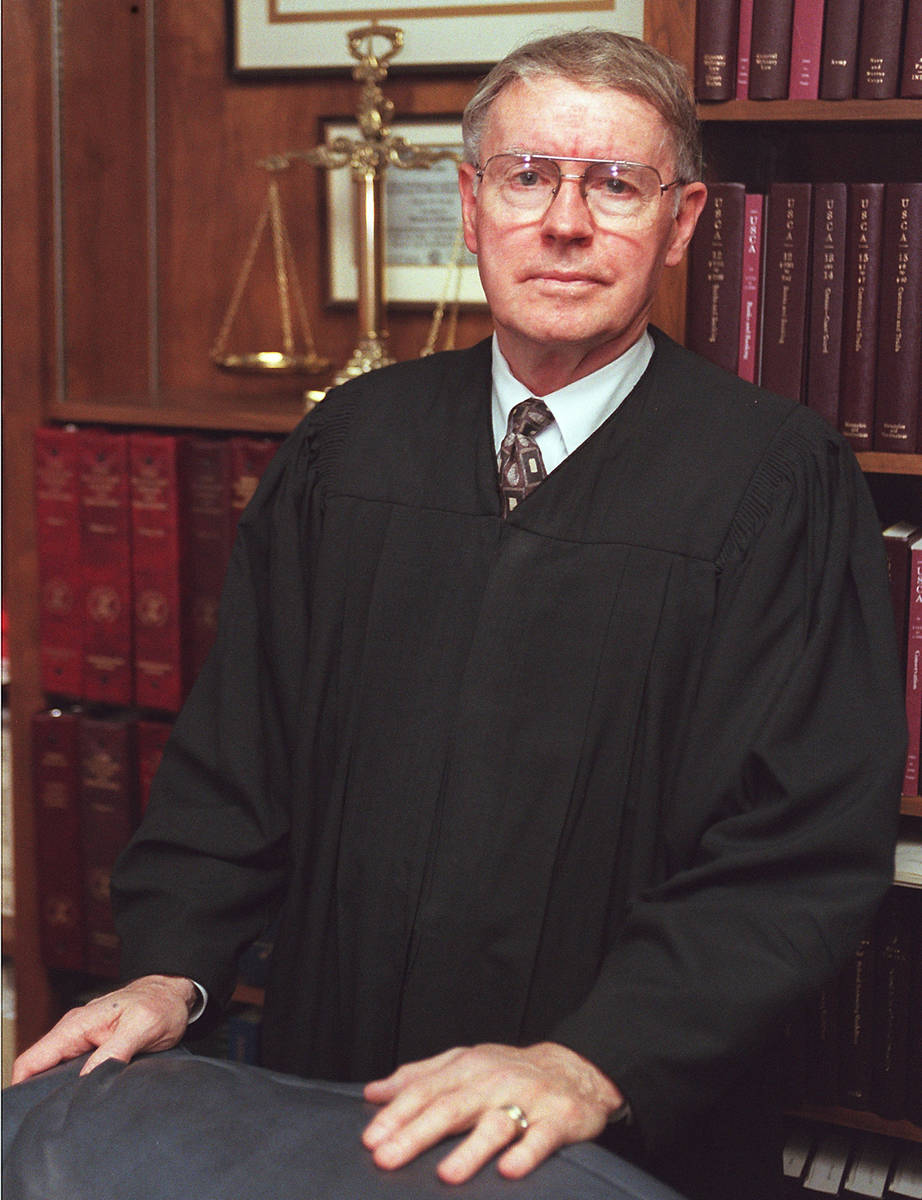 Judge Lloyd George in 1997. (Review-Journal file photo)