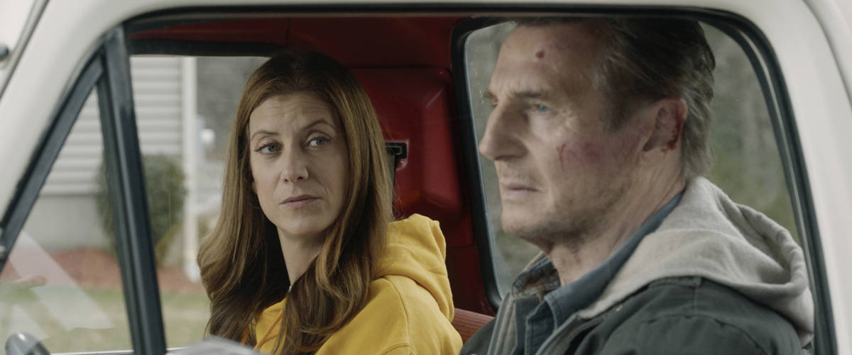 This image released by Open Road Films shows Kate Walsh, left, and Liam Neeson in a scene from ...