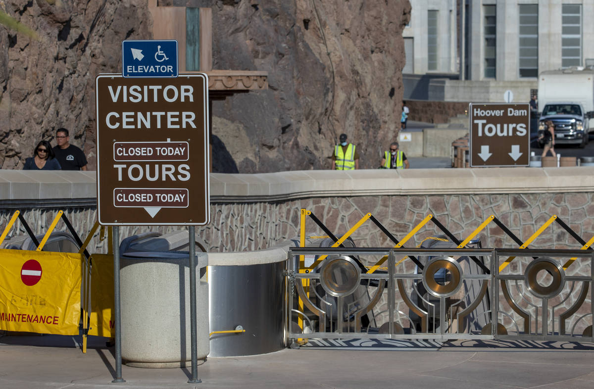 The visitor center and tours are still closed at Hoover Dam. The dam is open to the public afte ...