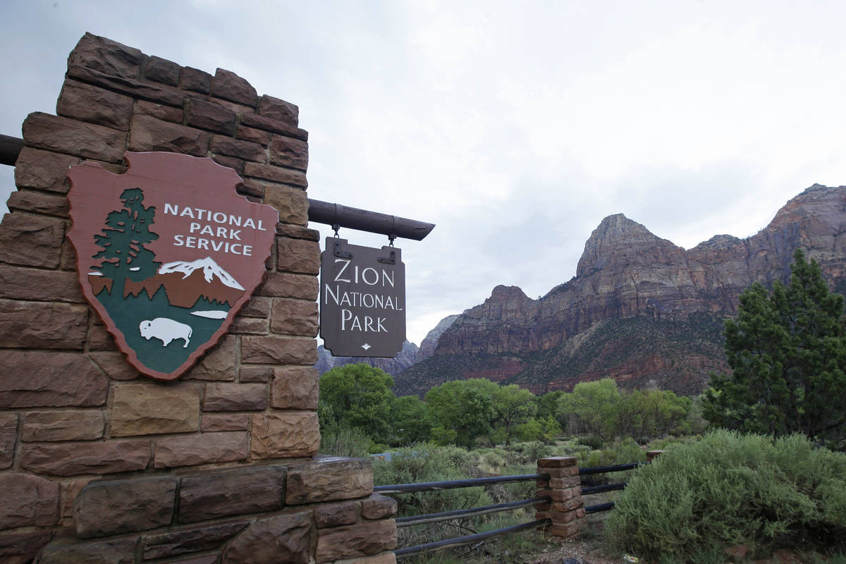 FILE - This Sept. 15, 2015, file photo, shows Zion National Park near Springdale, Utah. A Calif ...