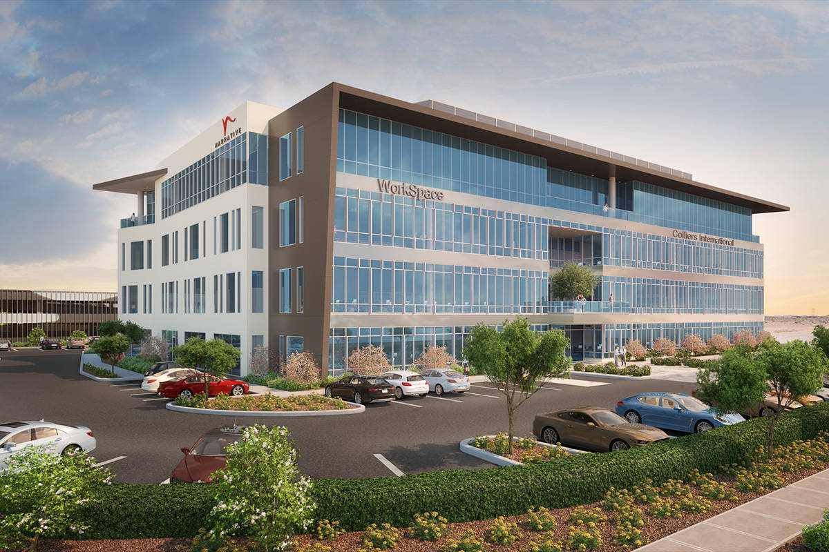 A rendering of Narrative, a proposed office building at the southwest corner of Roy Horn and Na ...