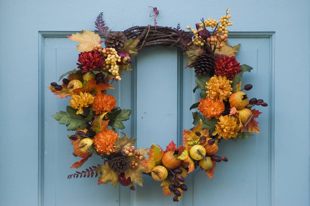 A simple wreath on the front door signals fall has come. (Getty Images)