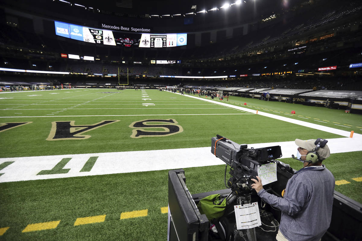 A general view during an NFL football game between the New Orleans Saints and Green Bay Packers ...
