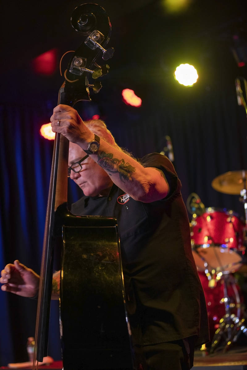 The Reverend Horton Heat's Jimbo Wallace preforms at the Fremont Country Club on Thursday, Oct. ...