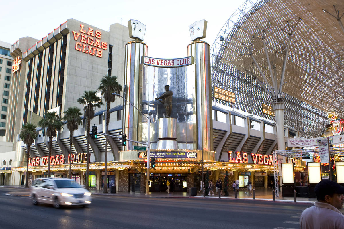 DUANE PROKOP/LAS VEGAS REVIEW-JOURNAL Las Vegas Club hotel-casino is shown August 5, 2010 in La ...