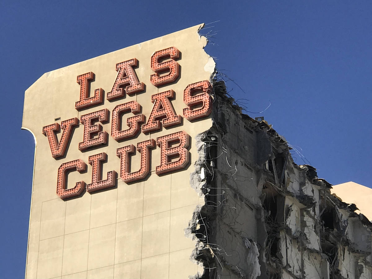 The old Las Vegas Club building is seen on Thursday Oct. 5, 2017.The owners of downtownճ D Las ...