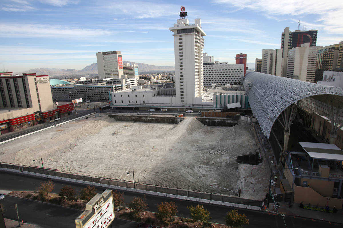 The site of Derek Stevens' new property, Circa, being built in downtown Las Vegas at the nort ...