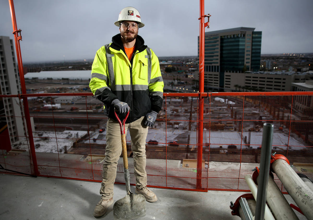 Concrete general foreman Trevor Lantham at the Circa construction site in downtown Las Vegas Bo ...