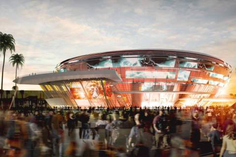 A rendering released in late October, 2014, depicts an arena that is under construction near th ...