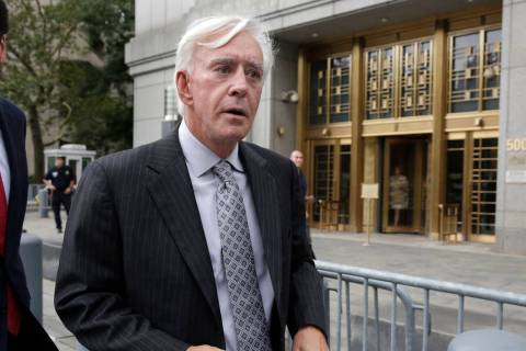 "Las Vegas gambler William ""Billy"" Walters leaves Manhattan federal court in New York, Thursday, ..."