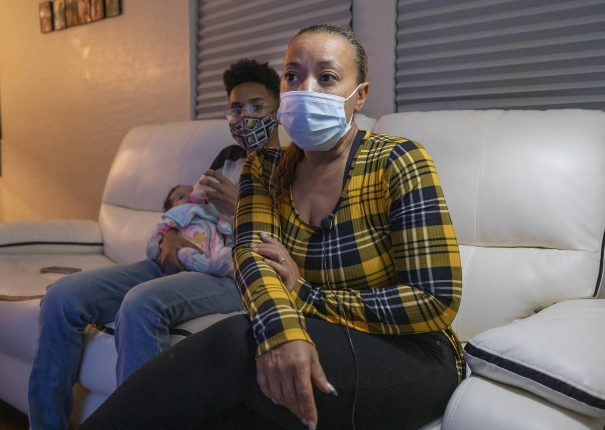 Daniva Chandler is seen with her son Tavaras Jr., 14, and her granddaughter Zoie Chandler, in t ...