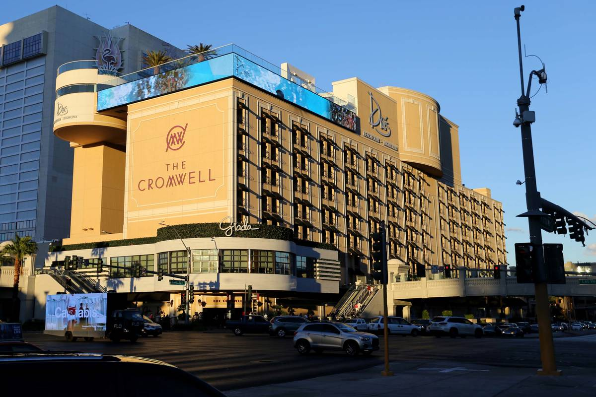 The Cromwell on the Strip is seen in 2018. (K.M. Cannon Las Vegas Review-Journal @KMCannonPhoto)