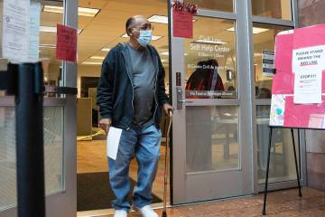 Jimmy Marks leaves the Civil Law Self-Help Center, operated by Legal Aid, at the Regional Justi ...