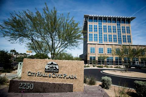 The North Las Vegas City Hall (Las Vegas Review-Journal)