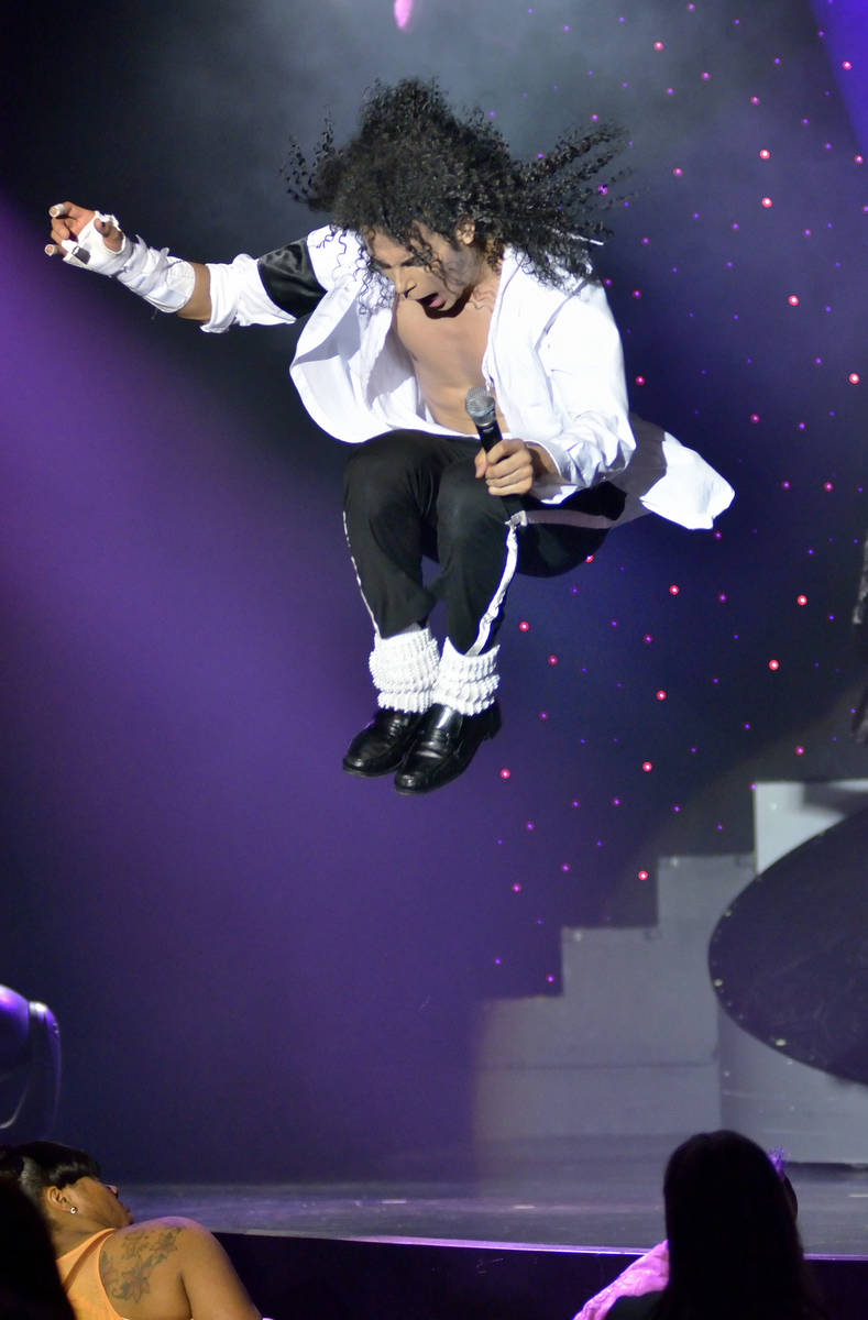 """Jalles Franca performs as Michael Jackson during """"MJ Live"""" in the showroom at the Str ..."""