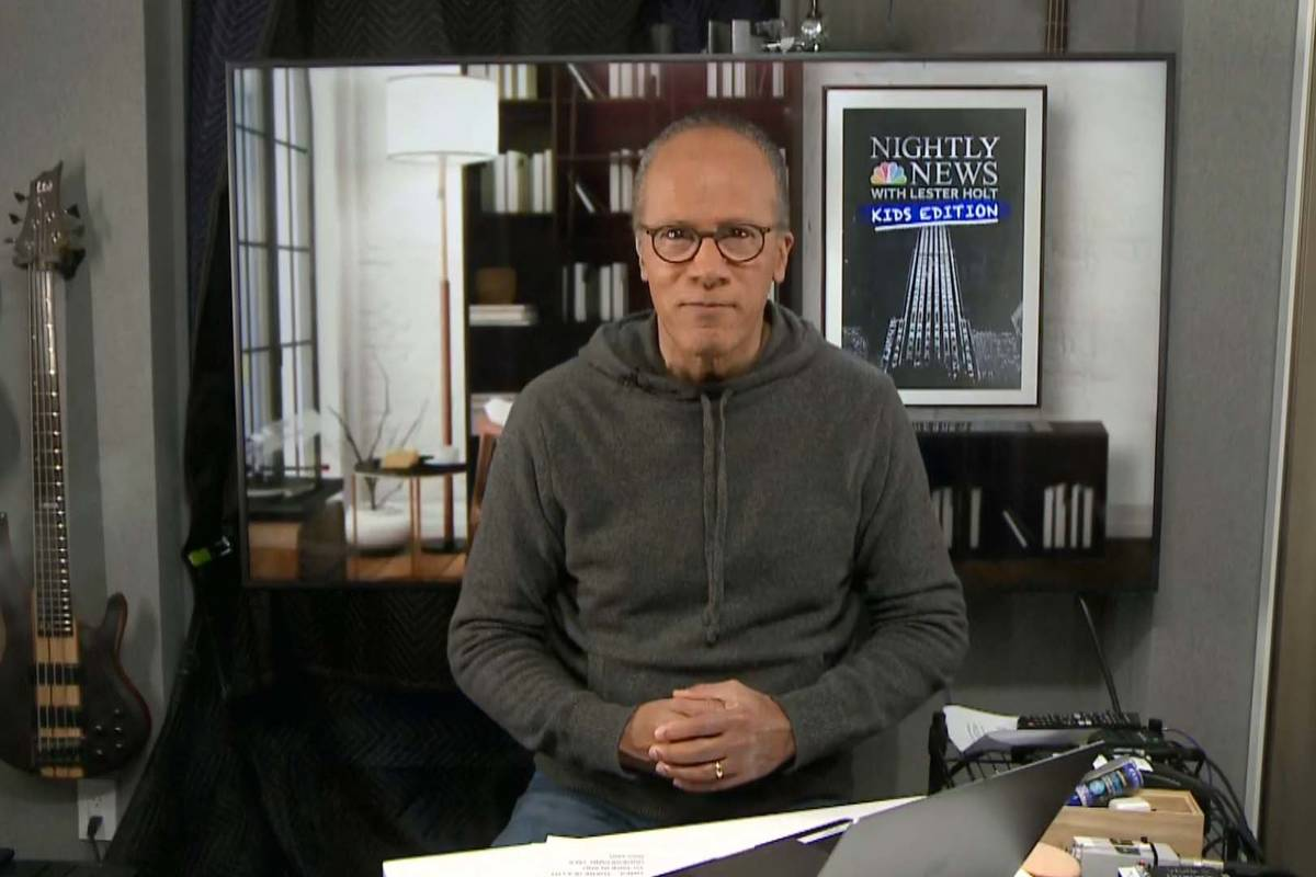 """This image released by NBC shows Lester Holt, host of NBC's """"Nightly News with Lester Holt ..."""