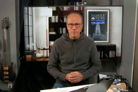 "This image released by NBC shows Lester Holt, host of NBC's ""Nightly News with Lester Holt ..."