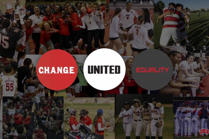 UNLV will feature uniform patches and helmet stickers advocating social justice issues. Graphic ...