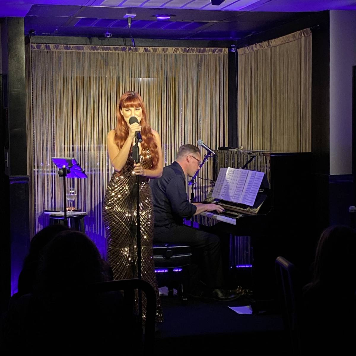 Lisa Marie Smith and Dan Ellis perform at The Vegas Room at Commercial Center in Las Vegas on S ...