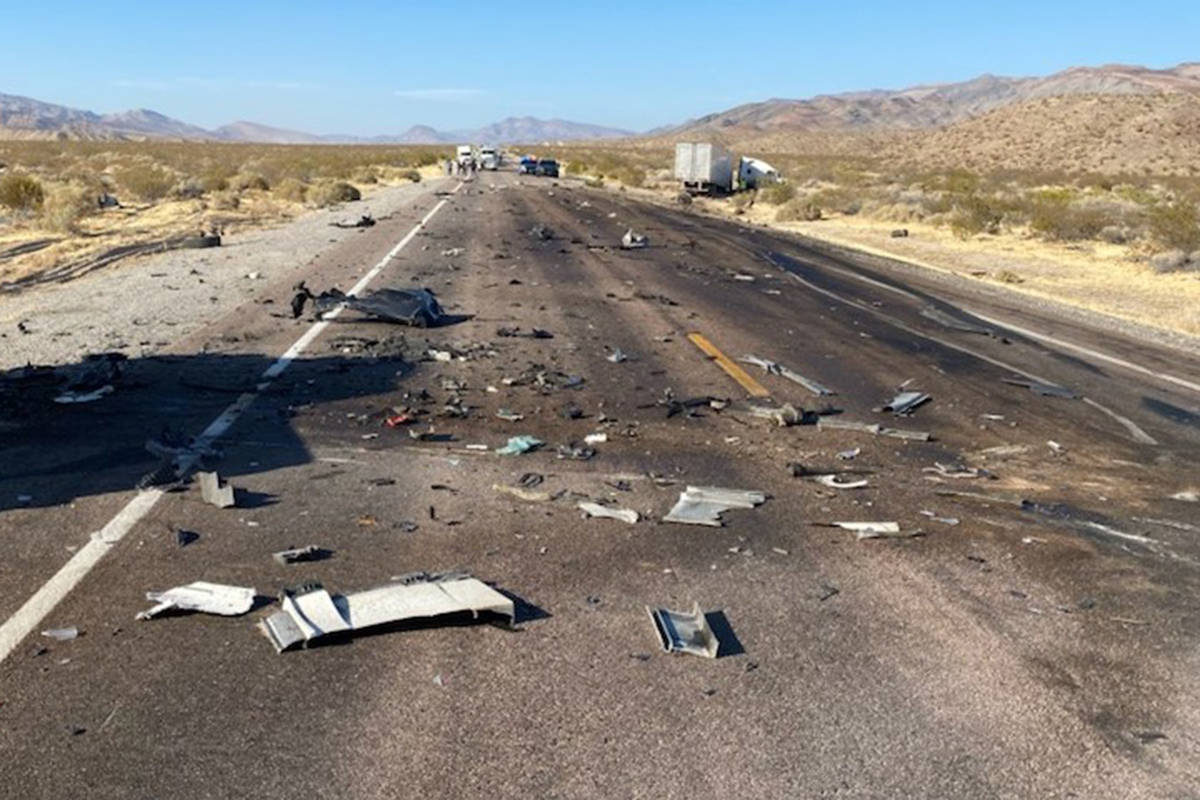 A crash on U.S. Highway 93 near Alamo killed a Las Vegas man Saturday, Oct. 24, 2020, according ...