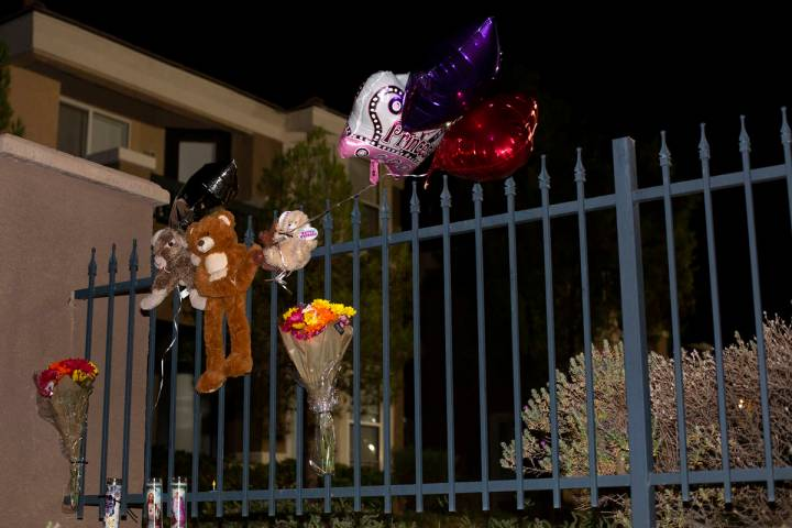 A small memorial for a 1-month-old girl who died earlier today during a domestic disturbance at ...