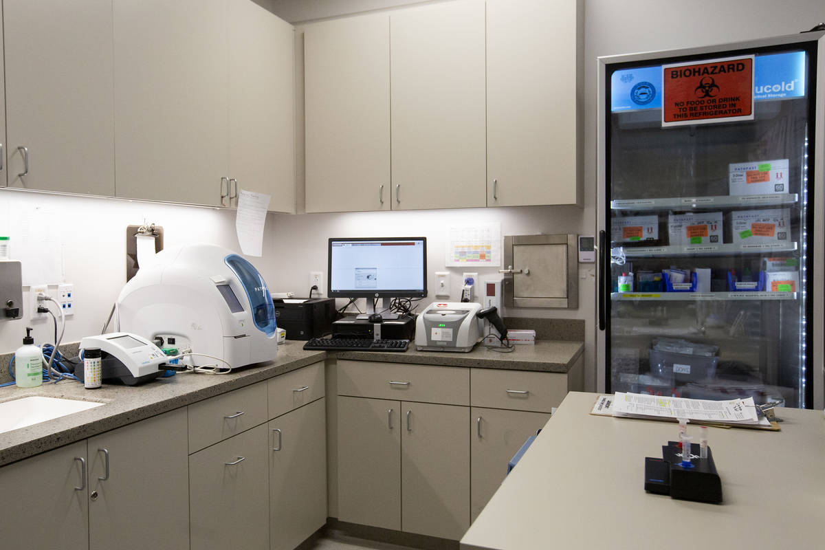 A lab where COVID-19 tests are processed at Elite Medical Center on Friday, Sept. 18, 2020, in ...