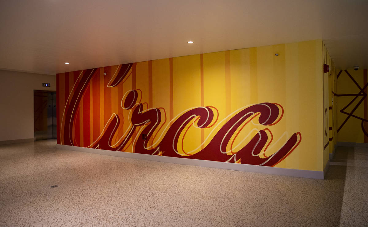 Signage for Circa on the first floor of Garage Mahal at Circa, the first from-the-ground-up cas ...