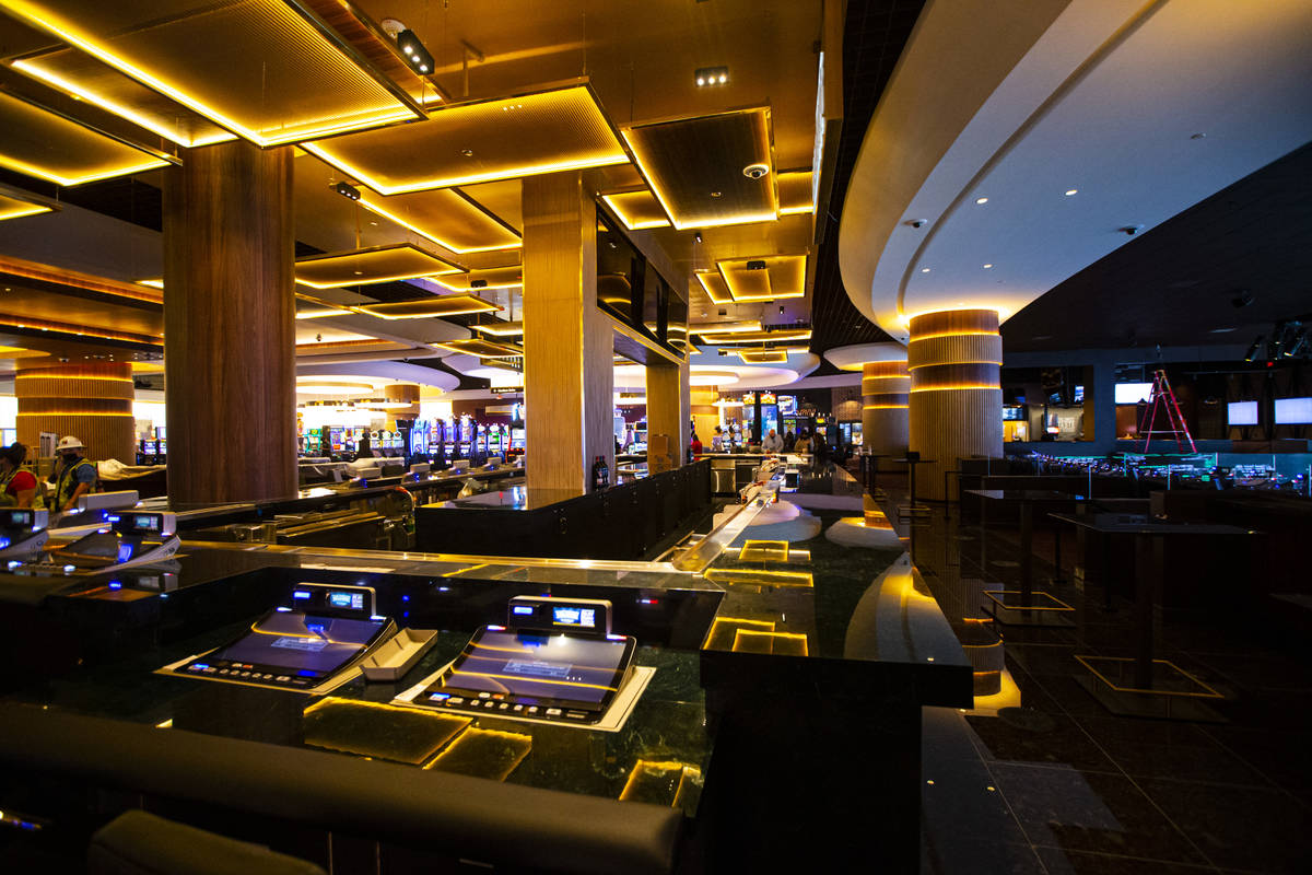 The Overhang bar is seen during a tour of Circa, the first from-the-ground-up casino built in d ...