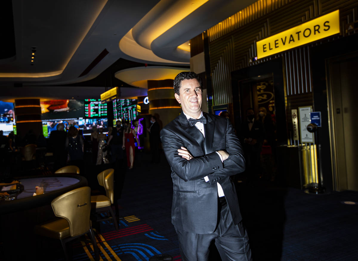 Greg Stevens, co-owner of Circa, poses for a photo during the VIP black-tie grand opening event ...