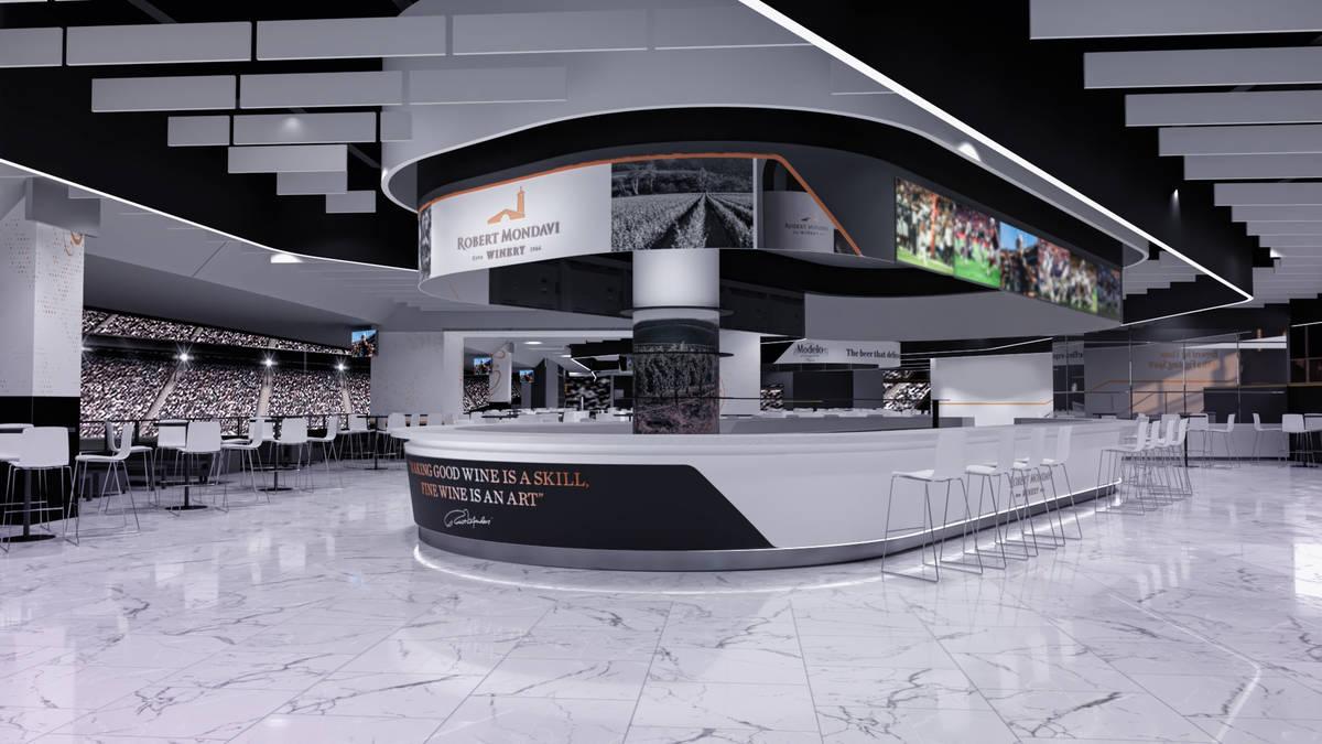 Artist's rendering of the Woodbridge by Robert Mondavi bar inside the 26,000-square-foot Modelo ...