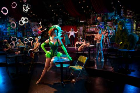 """""""Absinthe"""" cast members are shown during the return of """"Absinthe"""" at Caesars Palace on Wednesda ..."""