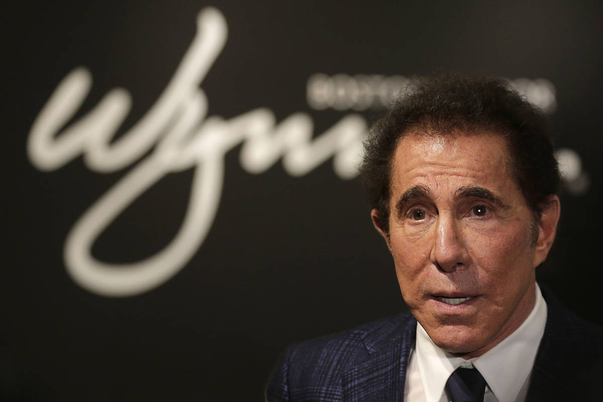 Casino mogul Steve Wynn is seen during a news conference in Medford, Mass., in 2018. (AP Photo/ ...