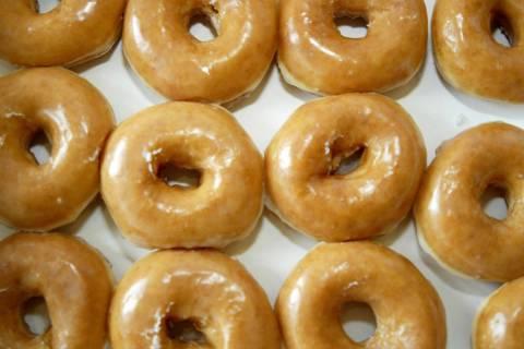Krispy Kreme glazed doughnuts (Nell Redmond/ Bloomberg News)