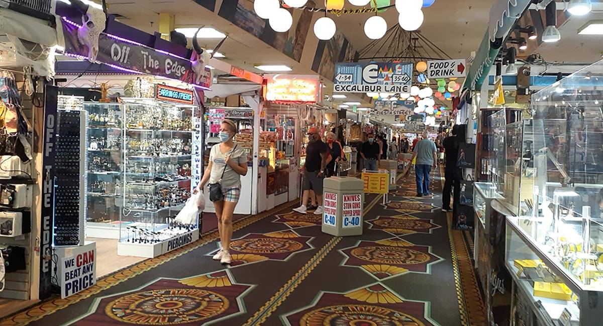 One of the main shopping aisles at Fantastik, a facility that offers 100,000 square feet of a w ...