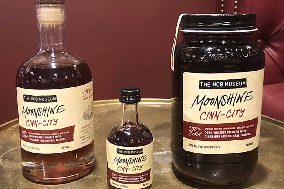 The Mob Museum produces two kinds of moonshine in its downtown Las Vegas distillery. (The Mob M ...